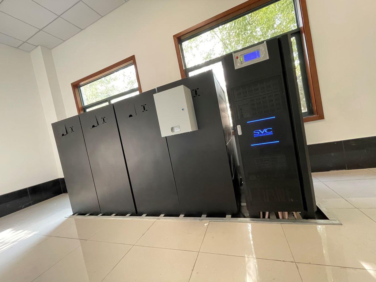 工频100KVAUPS电源蓄电池消防系统安装案例