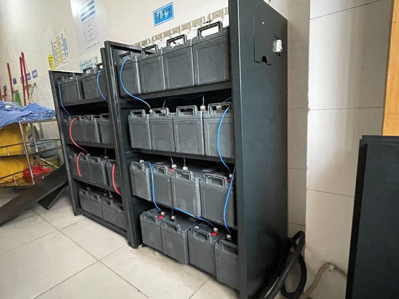 UPS电源松下蓄电池客户安装案例